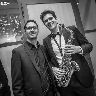 Con Thibaut Perron, director de la Orchestre d'Harmonie L'Abeille