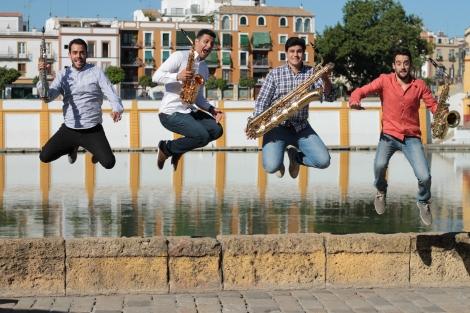 Tharsis Saxophone Quartet. Photo: Irene Fernández Arcas